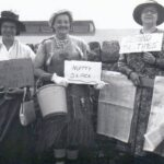 Field Day - no date. L-R Irene Topham, Moira Cooke, Jean Burgess?